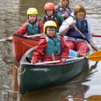 Canoeing on the canal - teamwork