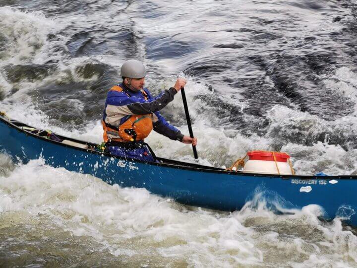 Simon Foster canoeing